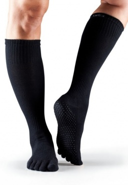 Toesox Scrunch Knee Full Toe - Black