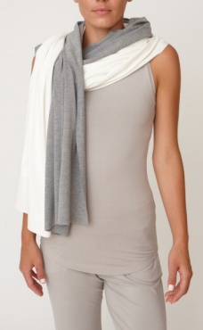 2 Tone Bamboo Scarf- Throw