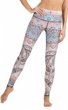 Mystic Elephant Recycled Yoga Leggings