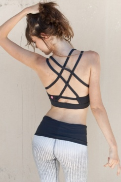 Fitek Yoga Bralet - Graphite Blue