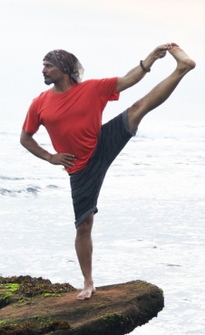 Air Mens Yoga Shirt - Coral