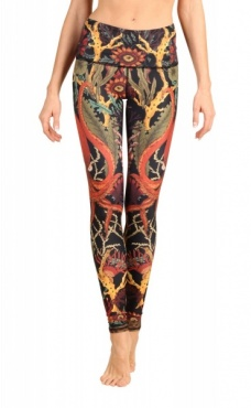 Coral My Name Yoga Leggings