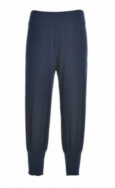 Cropped Harem Pants - Navy