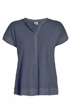 Button Tee - Jeansblue