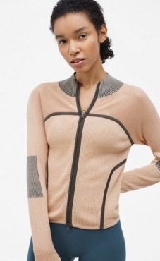 Filippa K Warm-up Zip Cardi - Plaster
