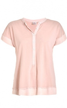 Button Tee - Blush