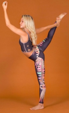 tEEKi Jungle Eyes Yoga Legging