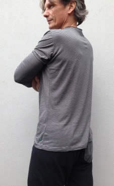 Waka Longsleeve Shirt - Small Stripes Grey