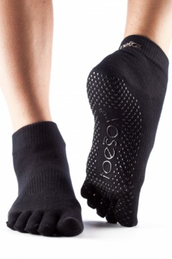 Toesox Ankle Full Toe - Black
