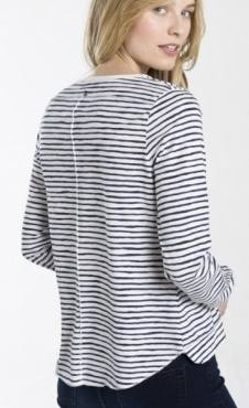 Shirts for Life Stripe Longsleeve - Navy