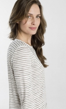 Shirts for Life Stripe Longsleeve - Taupe