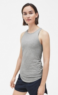 Filippa K Athletic Cotton Tank - Grey Marl