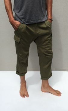 Mens Side Car Pants - Kale