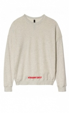 10Days Sweater - white wool melee