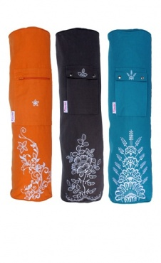 Yoga Mat Bag Embroided - Orange