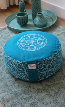 Mandala Meditation Pillow Big - Azure