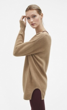 Filippa K 2-tone Split Sweater - Camel