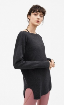 Filippa K 2-tone Split Sweater - Antraciet