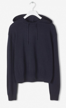 Filippa K 100% Cashmere Hood Sweater - Nightsky