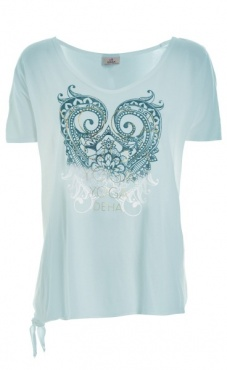 Knotted Tee - Ice Blue