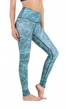 Urban Camo Yoga Leggings - Teal