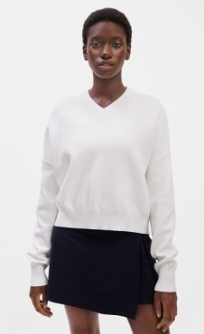 FilippaK Double Knit V-Neck Sweater White