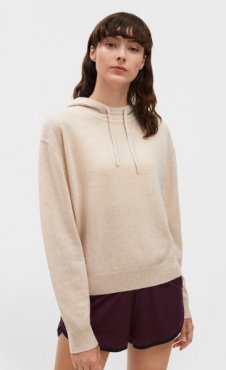 Filippa K 100% Cashmere Hood Sweater - Mousse
