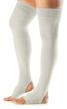 Open Heel Leg Warmer - Oatmeal
