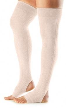 Open Heel Leg Warmer - Sweet Pea