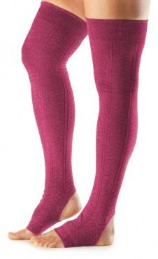 Open Heel Leg Warmer - Raspberry