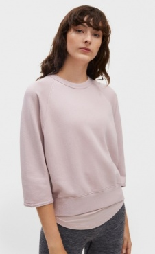 Mid Sleeve Sweat - Frosty Pink