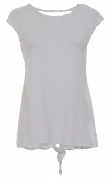 Open Back Tee- White