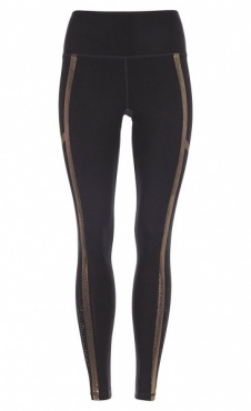 Punched Leggings Golden - Black
