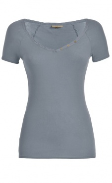 French Romance Tee - Cool Blue