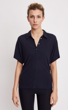 Filippa K Rib Polo Shirt - Navy