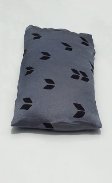 Eye Pillow V - Navy / Silver