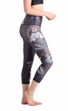 Fly By Night Cropped Recycled Yoga Legging