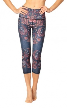Festival Denim Cropped Recycled Yoga Leggings