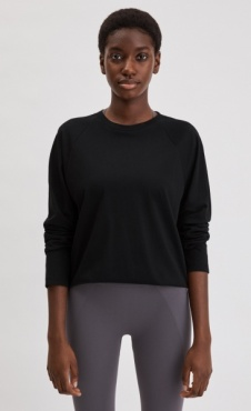 Filippa K Relaxed Raglan Top - Black