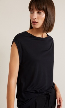 Lanius Cap Sleeve Tee - Black