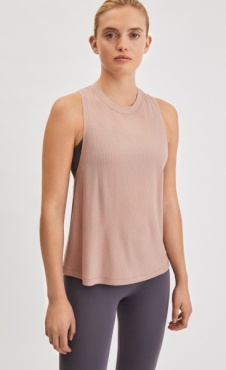Filippa K Rib Layer tank - Dusty Pink