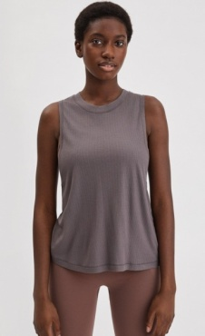 Filippa K Rib Layer Tank - Black Pearl