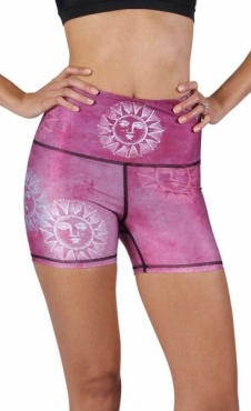 Yoga Shorts Sun Salutation
