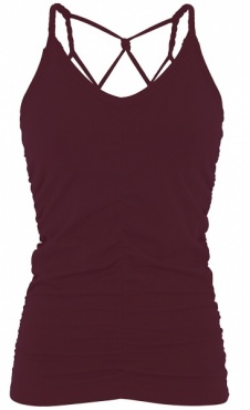 Cable Yoga Top - Wine