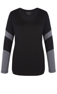 Long Sleeve Bamboo T - Black / Deep Grey