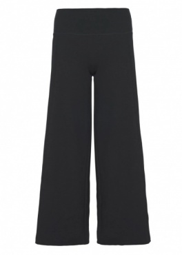 Yoga Flare Crop Pants - Black