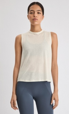 FilippaK Tencel Muscle Tank - Egg Shell