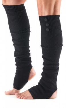 Rae Waffle Knitted Leg Warmer - Black