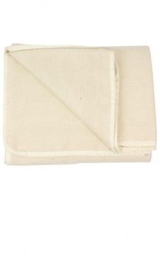 Hand Woven Cotton Yoga Blanket - Natural