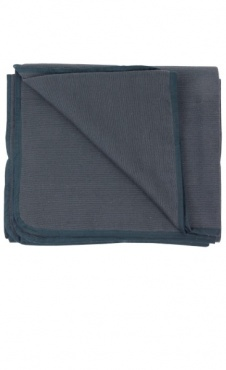 Hand Woven Cotton Yoga Blanket - Grey